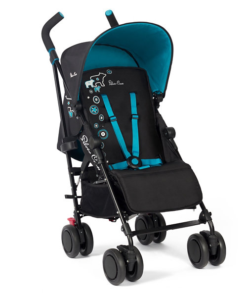 Silver Cross Pop Stroller Blue Polar Bear Mothercare